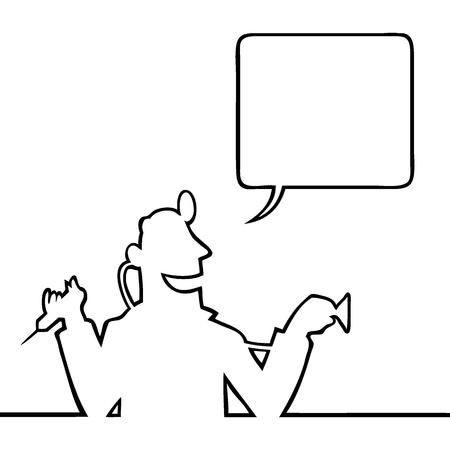 medico dibujo: M�dico con estetoscopio y jeringa