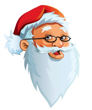 nice guy: Santa Claus face Illustration