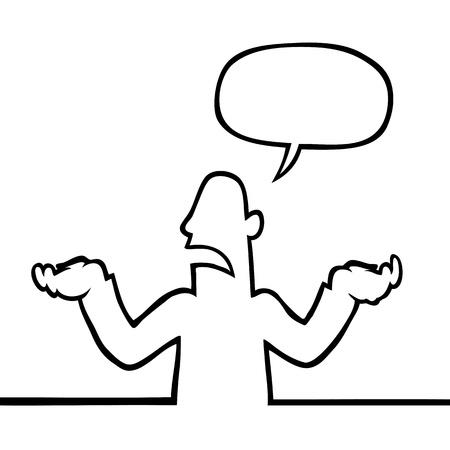 schulter: Person Achselzucken Illustration