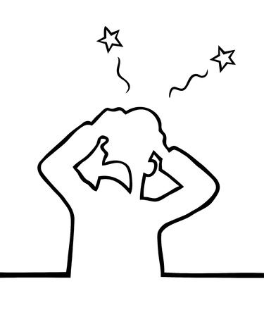 Kopfschmerzen Illustration