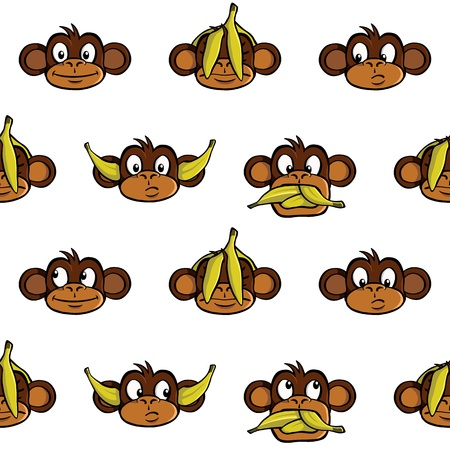 Monkey heads background