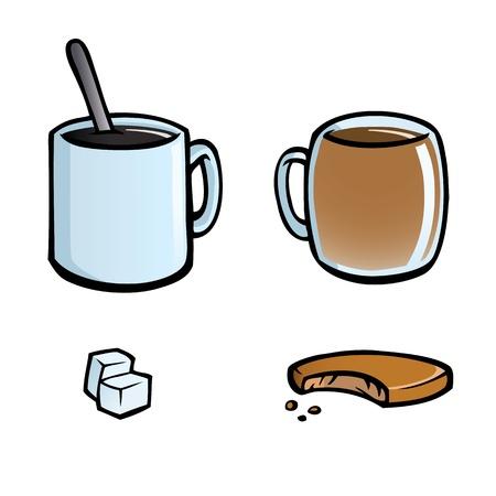 Set mit heißen Getränken Symbole Standard-Bild - 12225267