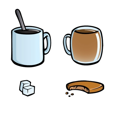 Set of hot drinks icons Stock Vector - 12225267