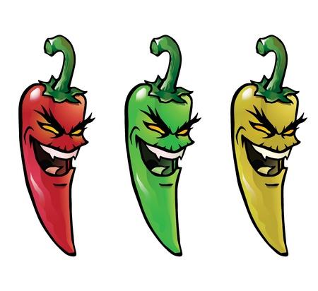 Zło Hot Chili Peppers Ilustracje wektorowe