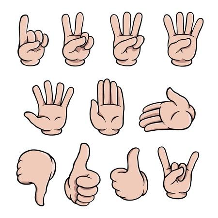 Cartoon handen te stellen Vector Illustratie