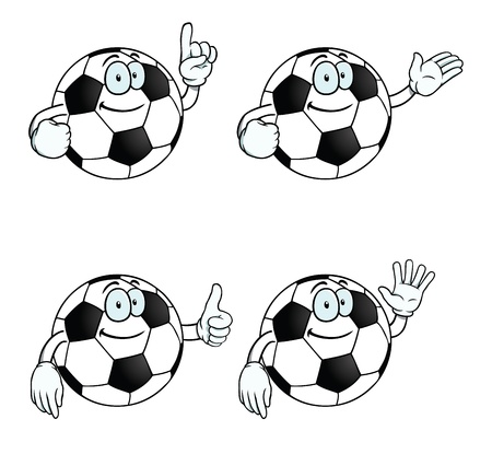 Smiling cartoon football set Stock Vector - 17156094