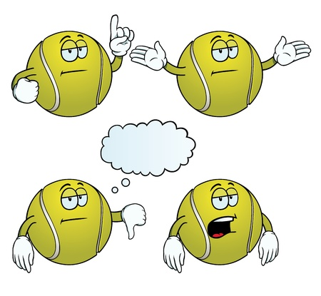 bored: Bored tennis ball set Illustration
