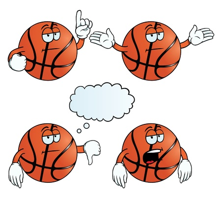 Bored basketball set Stock Vector - 18362787