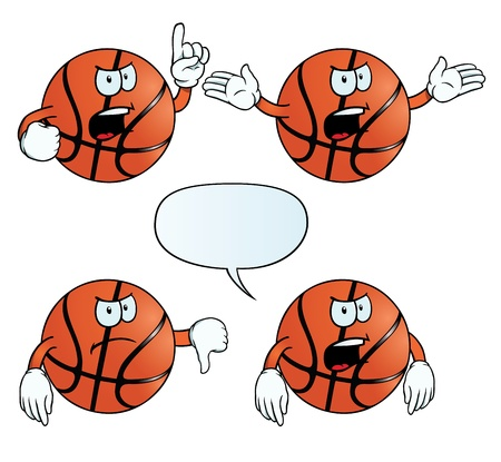 Angry basketball set Vector