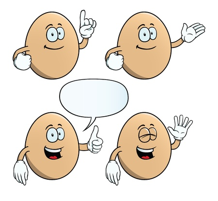 Smiling egg set Vector