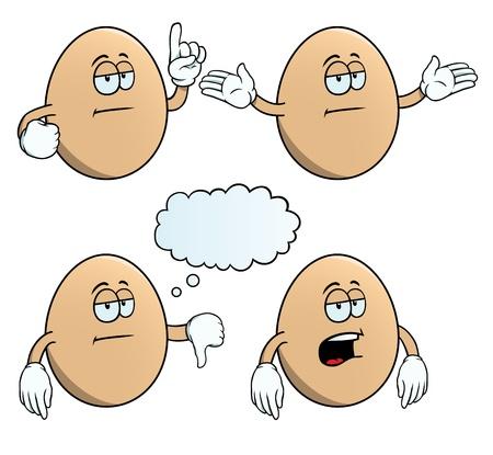 uninterested: Bored egg set