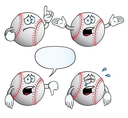 wenen: Crying honkbal set