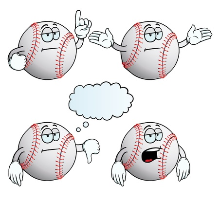 Bored baseball set Vector