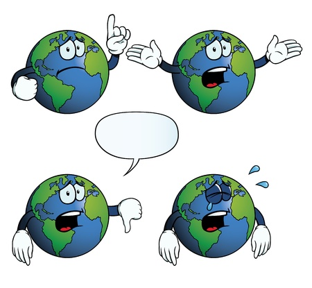 thumbs down: Crying Earth globe set