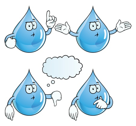 Thinking water drop set Vector