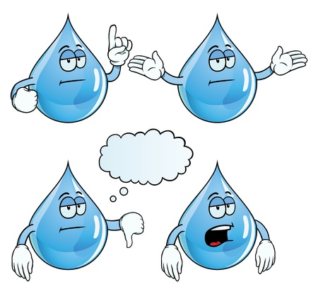 Bored water drop set Vector