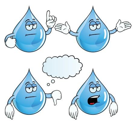 Bored water drop set Stock Vector - 18547980