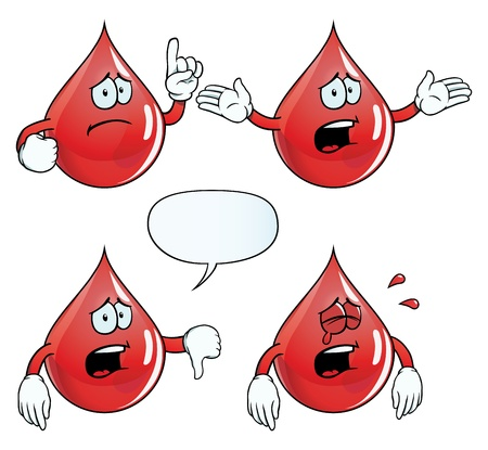 Crying blood drop set Stock Vector - 18547984