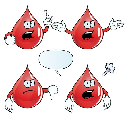 Angry blood drop set Stock Vector - 18547985