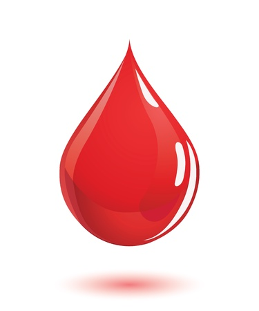clean blood: Blood drop Illustration