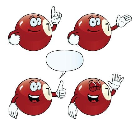 bola de billar: Sonriendo bola de billar conjunto