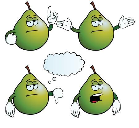 uninterested: Bored pear set