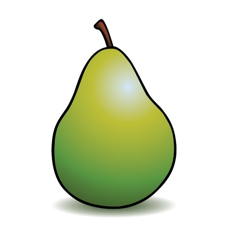 pear: Healthy cartoon pear