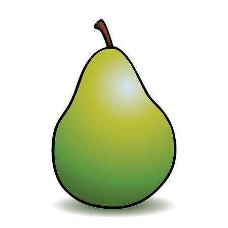 Healthy cartoon pear