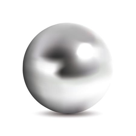 Fotorealistische Chromkugel