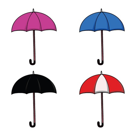 Set of colorful umbrellas Stock Vector - 21600212