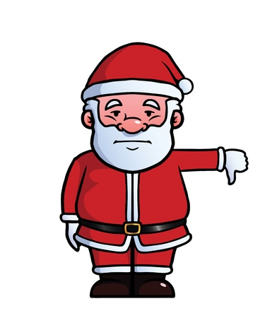 Santa Claus giving a thumbs down Stock Vector - 21947325