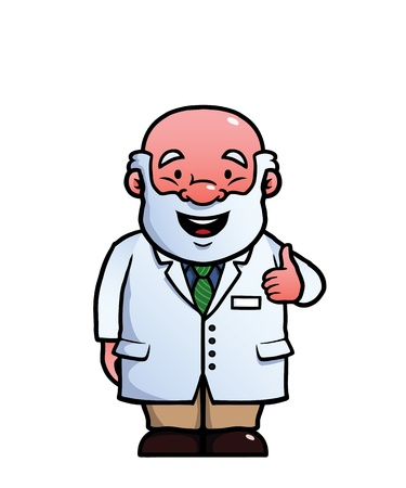 approving: Scientist giving a thumbs up Illustration