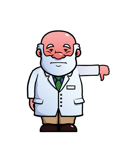uninterested: Scientist giving a thumbs down