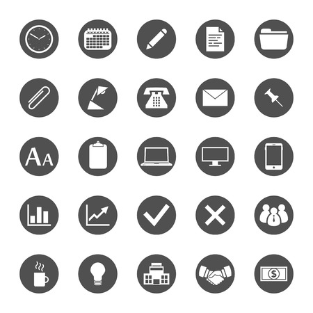 push pin icon: Business and finance icon set Illustration