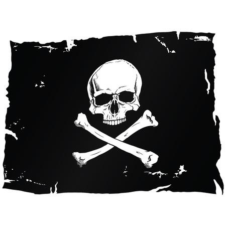 pirate skull: Bandera pirata con el cr�neo