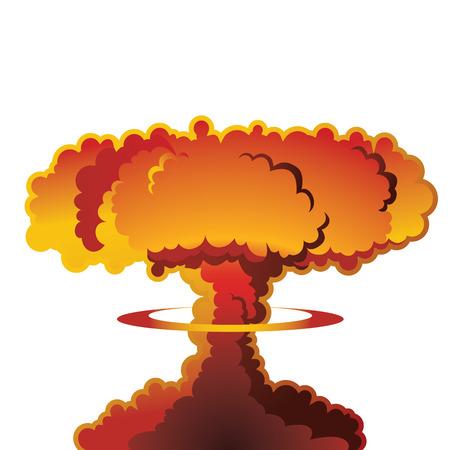 Nucleaire explosie paddestoelwolk