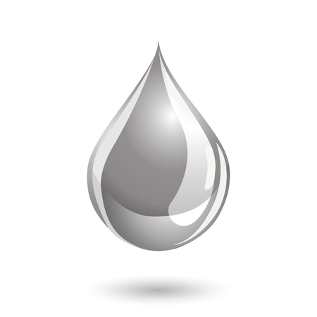 paint drop: Silver colored drop icon, like liquid metal or paint.