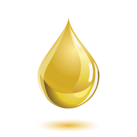 Golden colored liquid drop icon, representing cooking oil or honey.