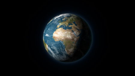 nasa realistic earth centered on the african and european continent on a black background digital voltagebd Gallery