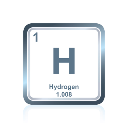 Symbol of chemical element hydrogen as seen on the Periodic Table of the Elements, including atomic number and atomic weight. Stock fotó - 79561005