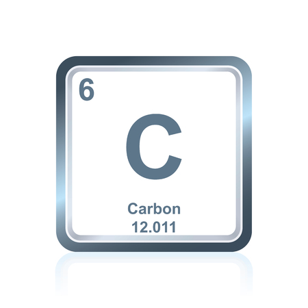 Symbol Of Chemical Element Carbon As Seen On The Periodic Table