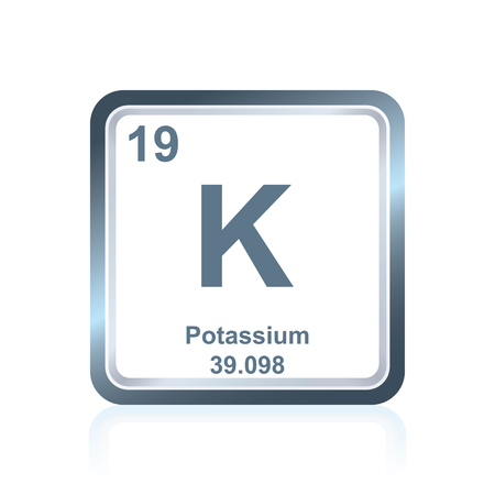 Symbol Of Chemical Element Potassium As Seen On The Periodic