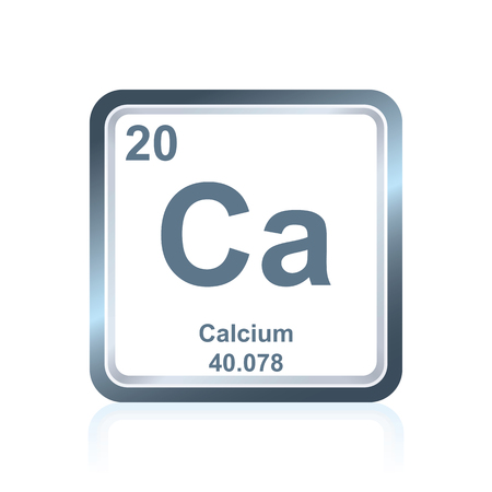 Symbol Of Chemical Element Calcium As Seen On The Periodic Table