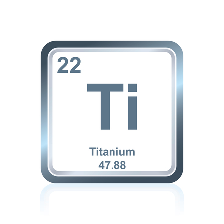 Symbol Of Chemical Element Titanium As Seen On The Periodic Table