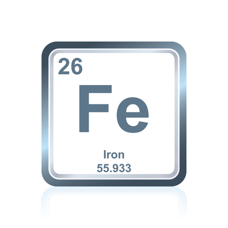 Symbol Of Chemical Element Iron As Seen On The Periodic Table
