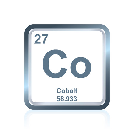Symbol Of Chemical Element Cobalt As Seen On The Periodic Table