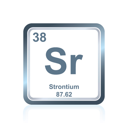 Symbol Of Chemical Element Strontium As Seen On The Periodic