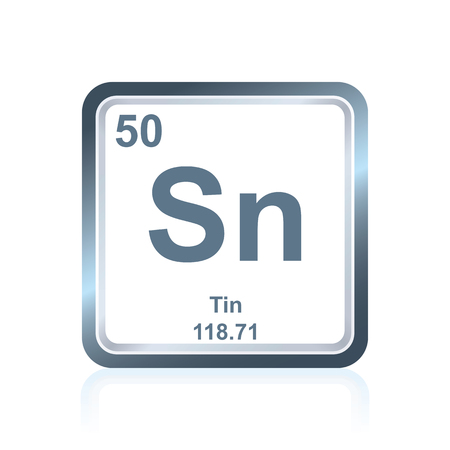 Symbol Of Chemical Element Tin As Seen On The Periodic Table
