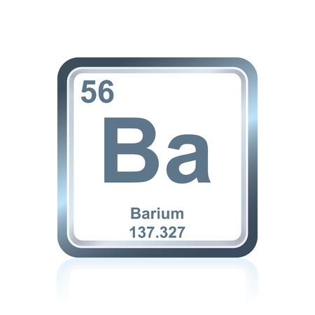 化学元素バリウム原子番号と原子量を含む要素の周期表で見られる記号です。