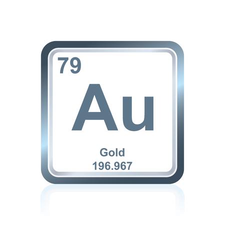 Smbolo del elemento qumico hidrgeno como se ve en la tabla 80109773 smbolo del elemento qumico dorado tal como se ve en la tabla peridica de los elementos incluido el nmero atmico y el peso atmico urtaz Choice Image